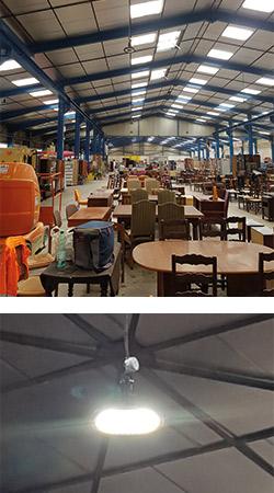 Installation projecteurs suspendus 100W